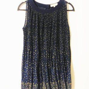 Umgee Polka Floral Dot Blue Sheer Dress
